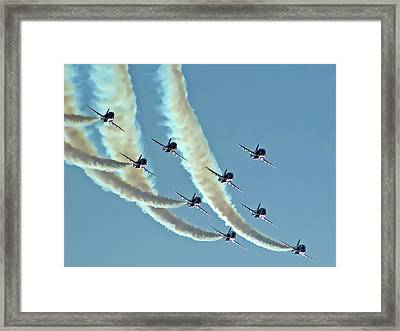 Red Arrows - 2 Framed Print by Graham Taylor