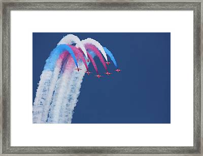 Red Arrows Framed Print by Jonathan Simons