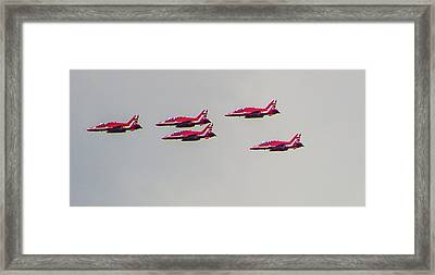 Red Arrows Framed Print by Martin Newman