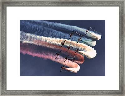 Red Arrows Roll Framed Print by Phil Clements