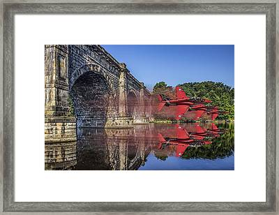 Red Arrows Through The Aqueduct Framed Print by Paul Madden
