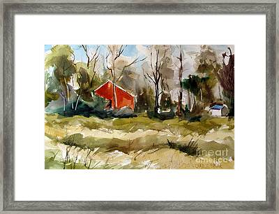 Red As In Barn Vermillion Framed Print by Charlie Spear
