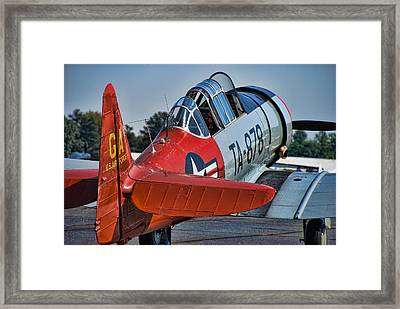 Red At-6 Framed Print by Steven Richardson