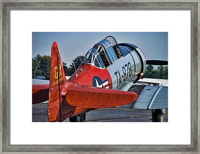 Red At-6 Framed Print by Steven Richardson