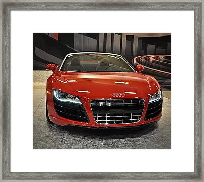 Red Audi R8 Seattle Auto Show 2011 Framed Print