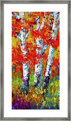 Red Autumn Framed Print by Marion Rose