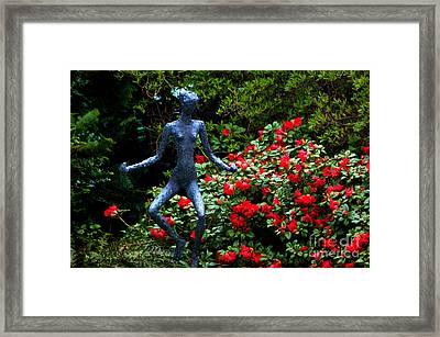 Red Azalea Lady Framed Print by Susanne Van Hulst