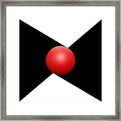 Red Ball S Q 1 Framed Print