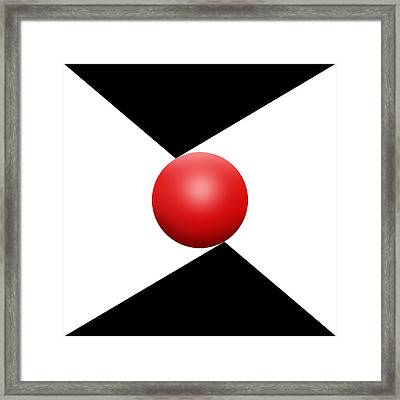Red Ball S Q 2 Framed Print by Mike McGlothlen