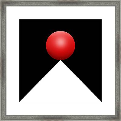 Red Ball S Q 3 Framed Print