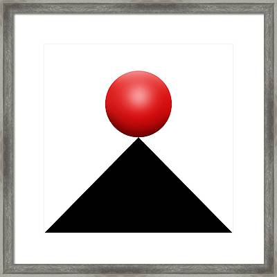 Red Ball S Q 4 Framed Print