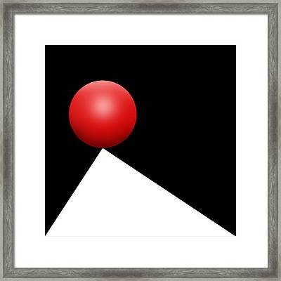 Red Ball S Q 5 Framed Print