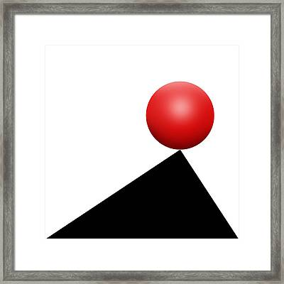 Red Ball S Q 6 Framed Print