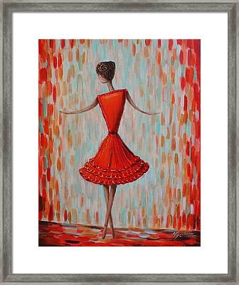 Red Ballerina Framed Print