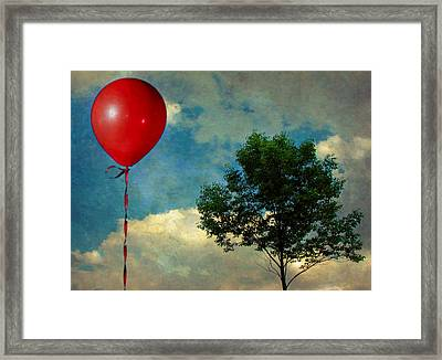 Red Balloon Framed Print by Jessica Brawley
