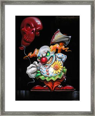 Red Balloon Framed Print by Mike Royal