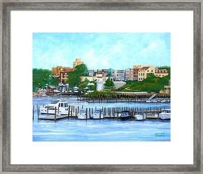 Red Bank From The Molly Pitcher Hotel Framed Print