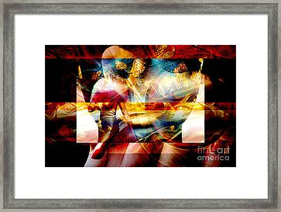 Red Banner Framed Print by John Rizzuto