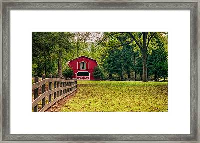 Red Barn 2 Framed Print