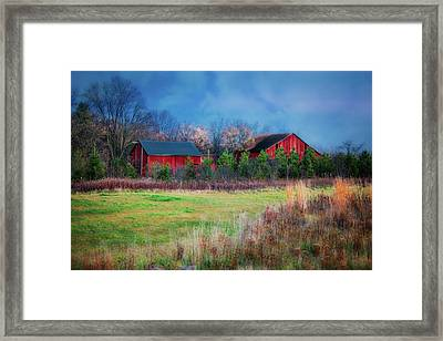 Red Barn At Retzer Nature Center Framed Print by Jennifer Rondinelli Reilly - Fine Art Photography