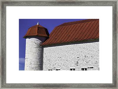 Red Barn Close Up Framed Print by Garry Gay