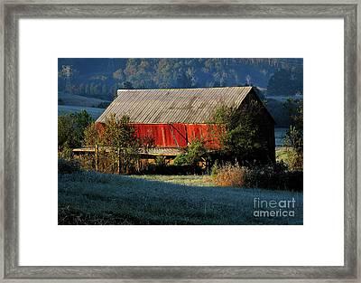 Red Barn Framed Print by Douglas Stucky