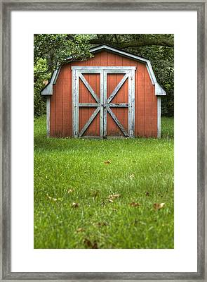 Red Barn Framed Print by Dustin K Ryan