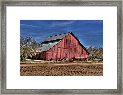 Framed Print featuring the photograph Red Barn by Jim and Emily Bush