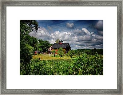 Red Barn Hill Framed Print