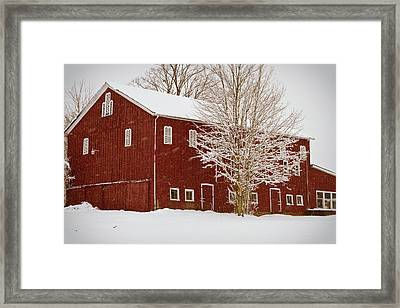 Red Barn IIi Framed Print by Tim Fitzwater