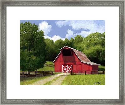 Red Barn In Franklin Tn Framed Print