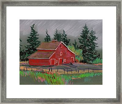 Red Barn In La Honda Framed Print by Donald Maier