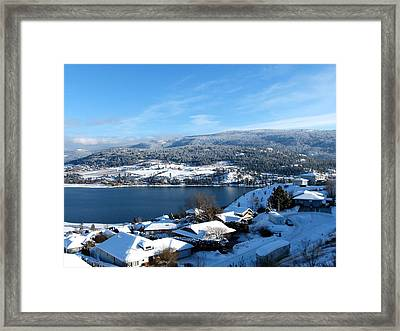 Framed Print featuring the photograph Red Barn In The Distance by Will Borden