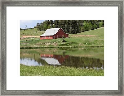 Red Barn Burgess Res Divide Co Framed Print