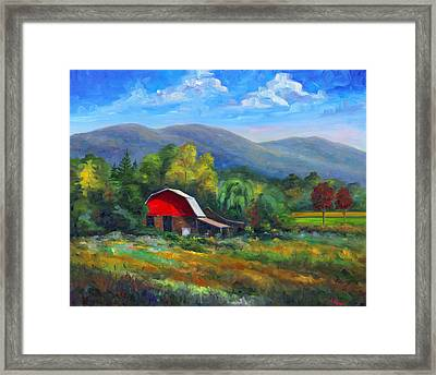 Red Barn On Cane Creek Framed Print by Jeff Pittman