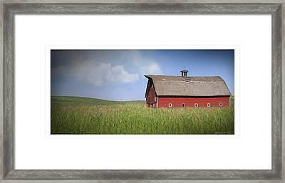 Red Barn Pano Framed Print