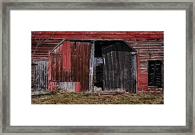 Red Barn Side Framed Print