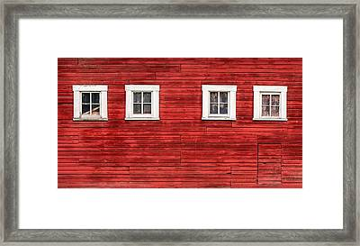 Red Barn Side Framed Print by Todd Klassy