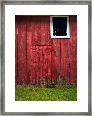 Red Barn Wall Framed Print by Steve Gadomski