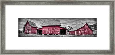 Red Barns At Windsor Castle Framed Print