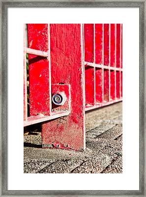 Red Bars Framed Print by Tom Gowanlock