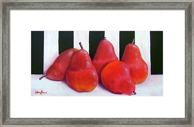 Red Bartletts Framed Print by Colleen Brown