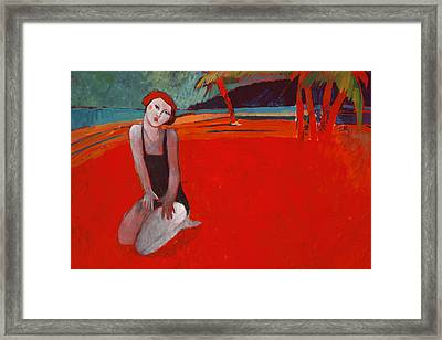 Red Beach Two Framed Print