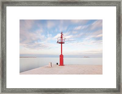 Framed Print featuring the photograph Red Beacon by Davor Zerjav