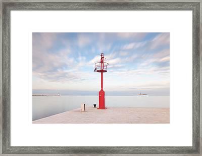 Red Beacon Framed Print