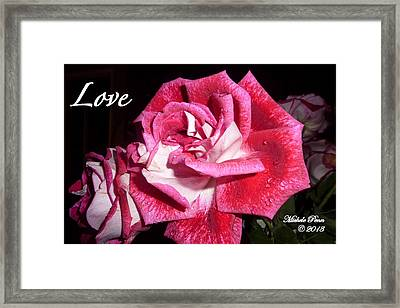 Red Beauty 3 - Love Framed Print