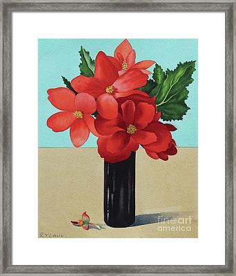 Red Begonias Framed Print