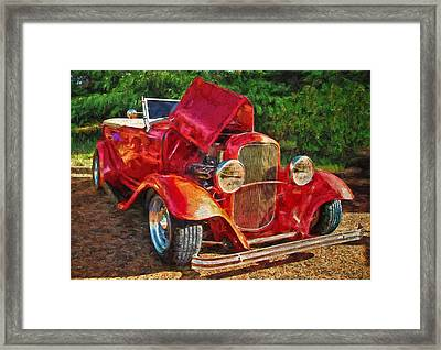 The Red Bell Roadster Framed Print