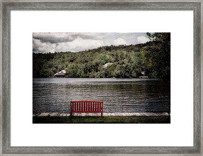 Red Bench Framed Print