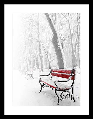 Bench Digital Art Framed Prints
